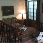 view of the room from the raised bed - gorgeous furniture!