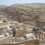 Mar Saba monastery view from Women's Tower