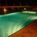 the pool from night