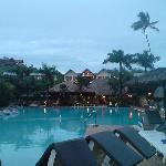spa up the top then rooms and the beautiful pool and bar