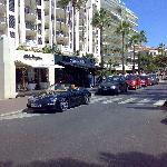 An example of the cars and shops in Cannes - A Porsche and Dolce and Gabbana