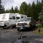 RV site at Fishing Bridge