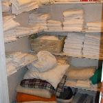 Linen closet we found unlocked/opened so we helped ourselves