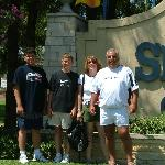 The family at Six Flags