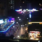 view at night from balcony