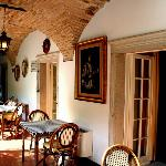 Il porticato dove si cena
