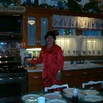The owner in her kitchen!
