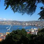Valparaiso y el océano pacífico