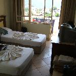 Our room at the rear of Selen