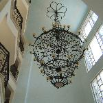 Magnificent Chandelier in reception area selen