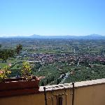 View from the bar terrace - Hotel San Luca, Cortona