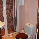 small bathroom but wonderful shower
