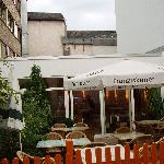 The terrace bar and entrance
