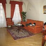 Living room of 1-bdrm apartment
