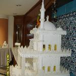 Icing sugar mosque in dining room