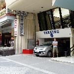 parking garage under hotel