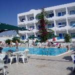 This is the pool of the citronniers hotel, so nice when it is very hot in the sun to just jump i