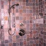 Shower with pebble floor