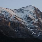 Eiger at sunset from Hotel Regina