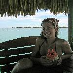 me on the dock enjoying a coco loco...so good