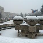 Fountain in central square