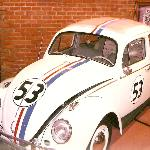 Herbie the Love Bug at Star Cars (out front of museum)