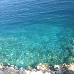 the clear water of the Red Sea