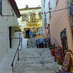 one of the many stairs in this part of the old town