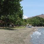 Beach in front of the hotel