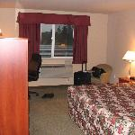 Jacuzzi suite with two tv's, King bed, and sofa sleeper