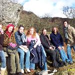 our group on tour around the banks of Loch Lommond