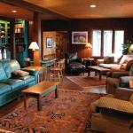 The lodge lobby