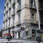 The corner Azalea room(1 window facing ocean (left)) at Partenope B&B (2nd floor over restaurant