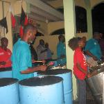 Steel pan music at Sunday school