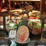 One of the cold dinner buffet tables