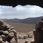 Cave w/ a view - Enjoying mint tea in a Berber cave w/ Mohommed, our guide in Dades