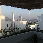 The view of Tangier from our private terrace
