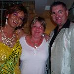 Hosts Wayne and derek with Sharron