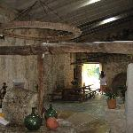An old olive-pressing room in the Finca