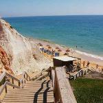 Steps to Falesia beach