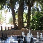 Chess board in the grounds