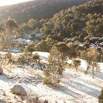 view from balcony over Thredbo Village