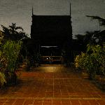 thai house at night