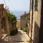Blick auf das ligurische Meer