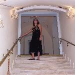 The Grand Staircase leding upto the rooms.