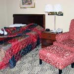 Bed and chair