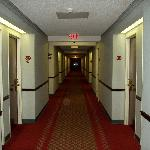 Second floor hallway leading to our room