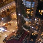the lifts  insde the hotel