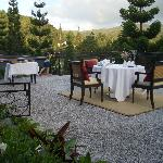 Special dining setup on top of the terrace, just above the lobby stairscase - romantic or what?
