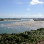 Camel estuary from coastal path